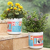 Personalized Outdoor Flower Pot - MOM Photo Collage - 17062