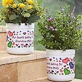 Personalized Outdoor Flower Pot - My Heart Belongs - 17063