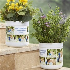 Personalized Outdoor Flower Pot - Picture Perfect - 17065