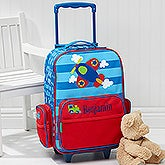 Airplane Embroidered Rolling Luggage by Stephen Joseph - 17073