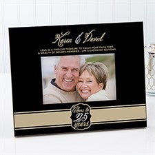 Personalized Anniversary Frame - Cheers To Then & Now - 17075