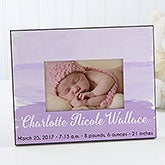 Personalized Watercolor Baby Girl Picture Frame - Bundle Of Joy - 17077