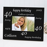 Personalized Birthday Photo Frame - Birthday Cheers Design - 1708