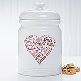 Personalized Cookie Jar - Close To Her Heart - 17082
