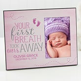 Personalized Baby Picture Frame - You Took Our Breath Away - 17083