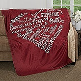 Personalized Premium Sherpa Blanket - Close To Her Heart - 17086