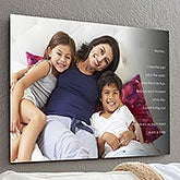 Personalized ChromoLuxe Metal Panels - Photo Sentiments - 17091