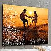 Personalize Chromoluxe Photo Metal Panels - Personalized Photo Flourish - 17094