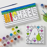 Personalized Kids Coloring Canvas Prints - Paint It! - 17095