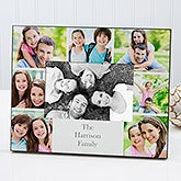 Printed Photo Collage Personalized Family Picture Frame - 17099