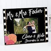 Personalized Wedding Picture Frame - Modern Chic - 17107
