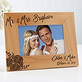 Modern Chic Wedding Engraved Personalized Picture Frame - 17109