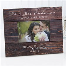 Personalized Wedding Picture Frame Rustic Elegance 17110