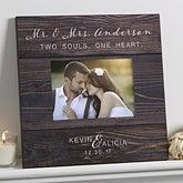Personalized Wedding 5x7 Wall Frame - Rustic Elegance - 17111