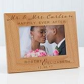Personalized Wood Wedding Frames - Wedding Elegance - 17115