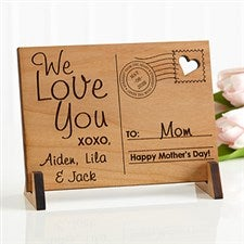 Personalized Wood Postcard - Sending Love To Mom - 17123
