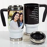 Personalized Travel Mug - Photo Mug for Her - 17125