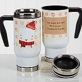 Personalized Commuter Travel Mug - Marshmallow - 17126