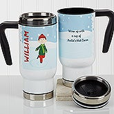 Personalized Commuter Travel Mug - Ice Skating Character - 17127