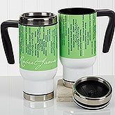 Personalized Commuter Travel Mug - Cascading Names - 17131
