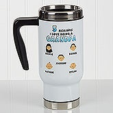 Personalized Commuter Travel Mug - His Reasons Why - 17132