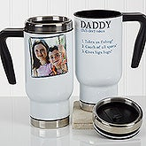 Personalized Dad Photo Travel Mug - Definition Of Dad And Grandpa - 17137