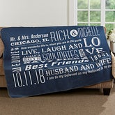 Personalized Romantic Premium Sherpa Blanket - Our Life Together - 17152