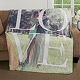 Personalized Photo Premium Sherpa Blanket - LOVE - 17153