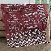 School Memories Personalized Premium Sherpa Blanket - 17155