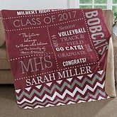 Personalized Graduation Premium Sherpa Blanket - School Memories - 17155