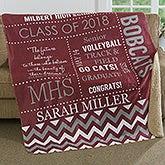 Personalized Graduation Premium Sherpa Blanket - School Memories - 17155