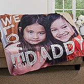 Personalized Photo Premium Sherpa Blanket - Loving Him - 17157