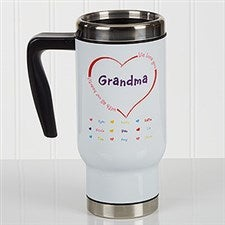 Personalied Grandparent Commuter Travel Mug - All Our Hearts - 17160