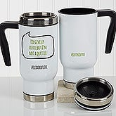 Personalized Hashtag Travel Mugs - 17161