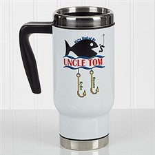 Personalized Fishing Commuter Travel Mug - Hooked On You - 17165