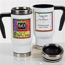 Personalized Birthday Commuter Travel Mug - Aged To Perfection - 17167