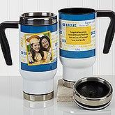 Personalized Graduation Photo Commuter Travel Mug - School Spirit - 17176