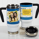 Personalized Graduation Photo Commuter Travel Mug - School Spirit - 17176