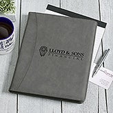 Business Logo Personalized Padfolio - Charcoal - 17188