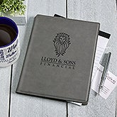 Business Logo Personalized Notepad - Charcoal - 17189