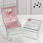 Butterfly Kisses Personalized Mirrored Ballerina Music Box - 17193