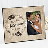 Personalized Romantic Picture Frame - Wedding Floral - 17203