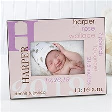 Personalized Baby Girl Picture Frame - All About Baby  - 17205