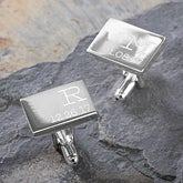 Personalized Silver Cuff Links - My Children - 17208