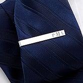 Personalized Tie Bar - Raised Monogram - 17212