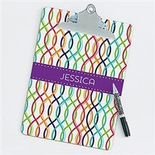 Personalized Clipboard - Geometric Shapes - 17218