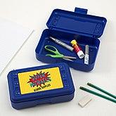 Personalized Super Hero Pencil Box - 17222