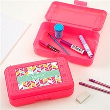 Personalized Pencil Box - Geometric Shapes - 17223