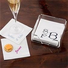 Personalized Linen Napkins & Guest Towels - Name & Monogram - 1722D