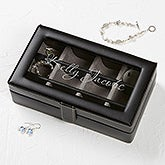 Leather 12 Slot Engraved Accessory Box - For Her - 17238